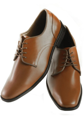'Atlanta' Brown Leather Shoes Tuxedo Accessories