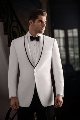 'Waverly' White Dinner Jacket by Ike Behar